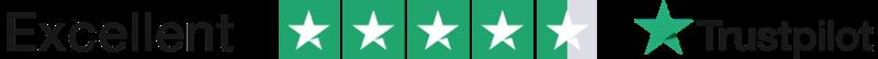 Trustpilot 4.5 logo