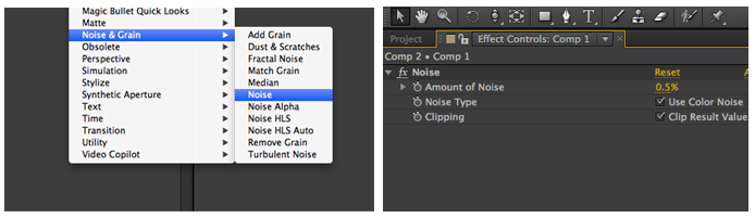 Adding Noise in After Effects