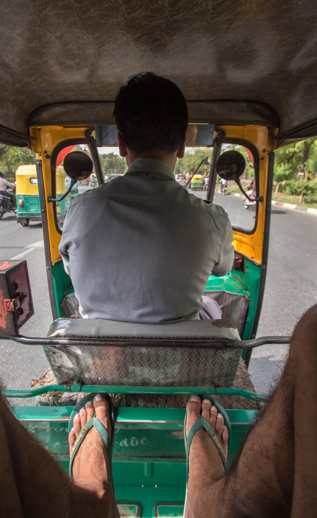 Commuting through New Delhi by Tuk Tuk